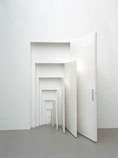 Whit door in white door in white door....