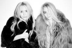 Olsen twins love their fur!
