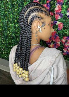 Box Braids Hairstyles For Black Women, Feed In Braids Hairstyles, Braids Hairstyles Pictures, Baddie Hairstyles, Braids For Black Hair, My Hairstyle, Hair Pictures, Protective Hairstyles, Protective Style Braids