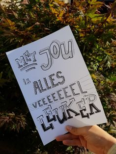 Met jou is alles veeeeel leuker With you everything is much more fun 50 Words, Handwriting, More Fun, Bullet Journal, Design, Everything, Calligraphy, Hand Type, Design Comics