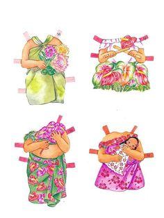 Beautiful HAWAIIAN FLOWERS Paper Dolls by Yuko Green - Maria Varga - Picasa Web Albums