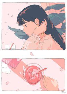 Fashion Illustration Speed Painting with Ink - Drawing On Demand Art Inspo, Kunst Inspo, Art And Illustration, Character Illustration, Illustration Fashion, Art Manga, Anime Art, Pretty Art, Cute Art