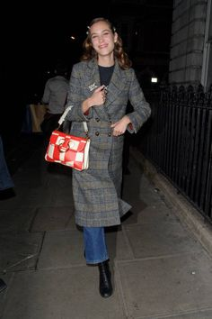 Alexa Chung arriving at the Edition hotel on February 17 2018 in London England