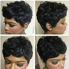 Short Curly Wigs, Short Pixie Haircuts, Short Hair Cuts, Curly Bob, Curly Pixie, Curly Afro, Coiffure Hair, Curly Hair Styles, Natural Hair Styles