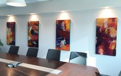 Commissioned artwork for a boardroom. Paintings by Peter Colbert. Ottawa artist, Canadian artist, abstract painter.