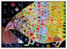 Elke Trittel acrylics on board 50x70cm