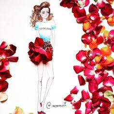 (the lovely supermodel)
