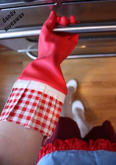 Win a pair of Gloveables from Flirty Aprons at www. Flirty Aprons, Red Gingham, Housewife, Dandy, Giveaways, Gloves, Dish, Organization, Cleaning
