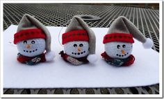 More snowman  golf  ball Christmas ornaments.  Too cute!