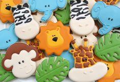 Preciosas galletas para una fiesta jungla, de Sweet Sugar Belle / Lovely cookies for a jungle party, from Sweet Sugar Belle