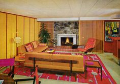 Living Room Decor, 1960s