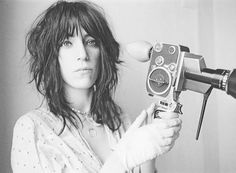 Patti Smith with a camera