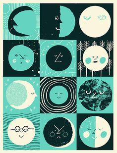 la luna. (Illustration by Rob Hodgson)