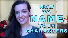How to Name Your Book Characters - YouTube