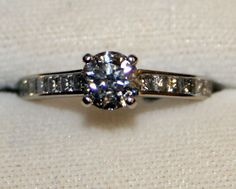 Gorgeous Contemporary Engagement Ring with Accent Diamonds, 1.45 cts