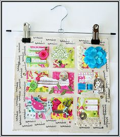 scrapbooking and fabric quilt