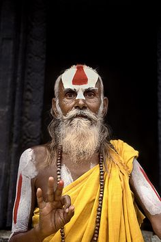 concentration on a point . the awareness about the moment . about time & life Photo a Sadhu from Nepal