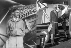 On this day in 1927, Charles Lindbergh took off from Long Island, N.Y. in his custom-built Spirit of St. Louis. Exactly five years later, Amelia Earhart flew out of Newfoundland in her red Lockheed Vega.  Today in History: Lindbergh and Earhart Took Flight | Mental Floss
