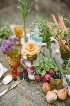Produce as rustic table decor, if done tastefully. (harhar)