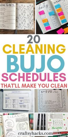 20 Cleaning Bujo Schedules That'll Make You Clean - Want to clean home but cannot make yourself do it? Start a bullet journal and steal some of these c - Deep Cleaning Tips, House Cleaning Tips, Diy Cleaning Products, Spring Cleaning, Cleaning Hacks, Cleaning Schedules, Bullet Journal Cleaning Schedule, Cleaning Checklist, Bujo