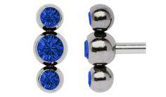 Bild von Zungenpiercing Titan Drilling mit Steinkugeln in 4/5/4 mm Ø