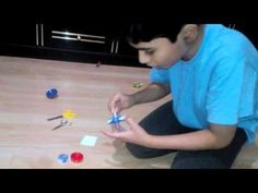 How to make a beyblade at home without any cost - YouTube