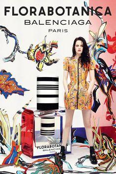 A atriz - em cartaz por aqui no filme On the Road - é a estrela da campanha do novo perfume da Balenciaga. Florabotanica tem notas de vetiver, âmbar, rosa,
