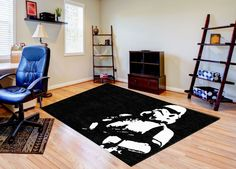 Buy a Star Wars Stormtrooper Rug in various sizes. Custom Sizes and text also available in this Star Wars Stormtrooper Rug. Free Samples.
