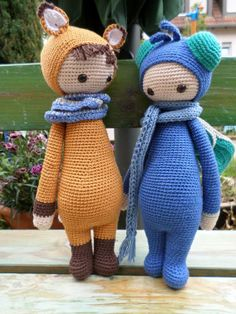 FIBI the fox  BUZZ the house fly made by Denise J. / crochet patterns by lalylala