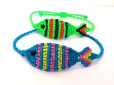 Macrame Fish Bracelet/ Friendship Bracelet by MACRANI on Etsy