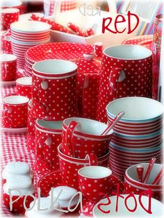Red Polka Dots GreenGate Spot