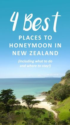 4 Best Places to Honeymoon in New Zealand. Tips and ideas for planning the honeymoon of your dreams – what to pack, fun things to do, how to budget. Find beautiful destinations to enjoy on your first trip as a married couple. Best Places To Honeymoon, Top Honeymoon Destinations, Honeymoon Planning, Honeymoon Places, Romantic Honeymoon, Romantic Destinations, Romantic Getaways, Romantic Travel, Places To Travel