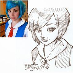 gerçek resimlerden anime karakterler oluşturmak