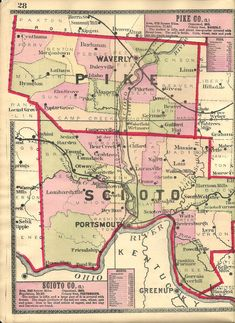 Portsmouth Ohio, Ohio Map, Beautiful Architecture, Ghost Towns, Genealogy, Pop, Heart, Cities, World