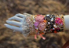 Versaillesluxurious ornate wrist cuff gauntlet by FleursBoheme