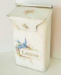 shabby chic mail box :-)  ( French) #shabbychicfurniturefrench