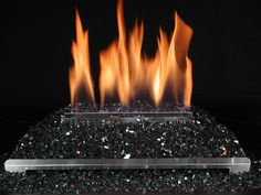 Ventless Gas Log Fireplace With Black Fire Glass Gas Fireplace Logs Ventless Gas Logs Fire Glass Fireplace