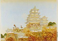 Hashimoto Okiie, Autumn at Himeji Castle, Japanese, Showa period, dated 1949, Harvard Art Museums/Arthur M. Sackler Museum.
