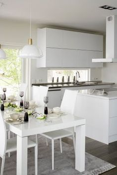 Kuopion Asuntomessut / Kuopio House Fair in Finland Kitchen Dining, Living Spaces, House, Table, Furniture, Home Decor, Kitchen Dining Living, Decoration Home, Room Decor