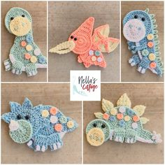 Searching for the perfect crochet applique pattern items? Shop at Etsy to find unique and handmade crochet applique pattern related items directly from our sellers. Crochet Dinosaur Patterns, Crochet Applique Patterns Free, Crochet Motifs, Baby Pattern, Elephant Pattern, Free Pattern, Motifs D'appliques, Stitch Crochet, Stuffed Animal Patterns