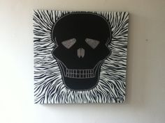 My work , a  collaboration of my two loves skulls and zebras .