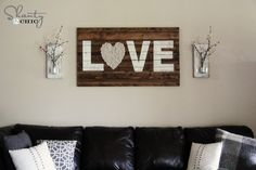 "What a gorgeous artwork made from old pallets or boards. The ""heart"" is so sweet. www.rehouseny.com for salvaged wood"