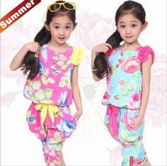 Cheap suits for men white, Buy Quality suit hand directly from China suit Suppliers:  New 2015 Summer children brand kids clothes,Cotton girl clothing suits flower Sleeveless t-shirt+pant red/blue