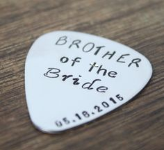 Brother Of The Bride Gift Guitar Pick Personalized Custom Engraved For Him