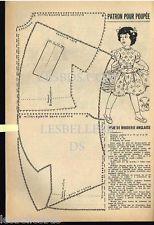 Doc / Clipping (Ref Rim 72) 06/1955: DOLL DRESS PATTERN ENGLISH 1page