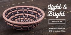 These colorful sweetgrass baskets were hand-crafted by female artisans in Rwanda-- and made exclusively for ONE by our partner Indego Africa. $36 at the ONE store!