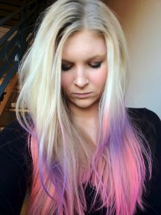 Lather Rinse Repeat | An Australian beauty blog : Pink, Orange and Purple Ombre Balayage Hair with Kevin Murphy Color Bugs