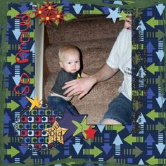 So Proud layout by Shellby Joslin | Pixel Scrapper digital scrapbooking My little boy learning to climb down the stairs I used Grace Blossoms 4 U's new kit Schools In http://www.mymemories.com/store/display_product_page?id=GB4U-CP-1307-37933