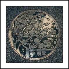 Manhole at Ueno Park, Tokyo #photography by Vincent van der Pas
