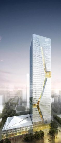 Shenzhen Guosen Securities Tower, Shenzhen, China by Massimiliano and Doriana Fuksas Architects